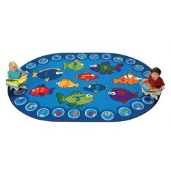 Fishing for Literacy Oval 8'x12'
