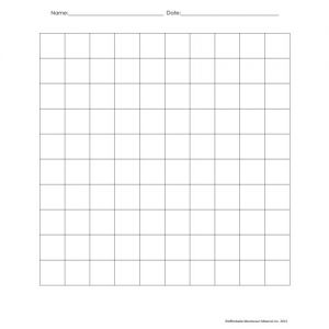 10 x 10 Grid Set of 100 double sided sheets