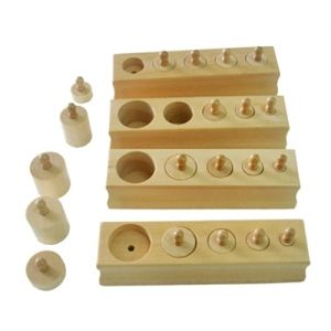 Miniature Knobbed Cylinders - Set of 4