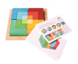 Small Square Puzzle With Template