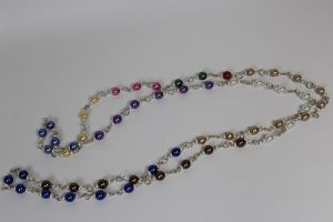 Coloured Bead Stair Necklace (long)