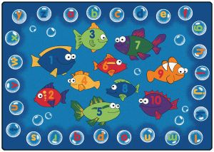 """Fishing for Literacy Rectangle 3'10"""" x 5'5"""""""