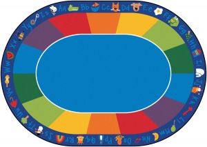 "Fun with Phonics Seating Rug Oval 8'3"" x 11'8"""