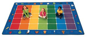 "Fun with Phonics Seating Carpets Rectangle 8'4"" x 13'4"""