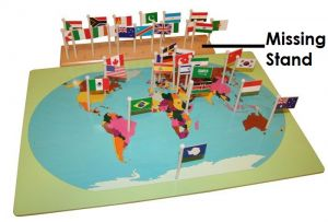World Map with Flags - NO STAND
