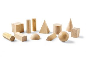 12 Pieces Wooden Geometric Solids