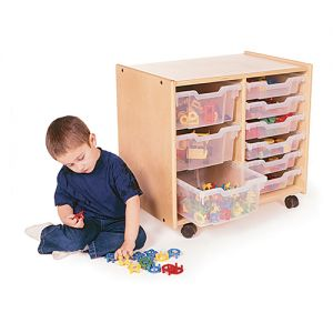 2 Section Toddler Tray Storage
