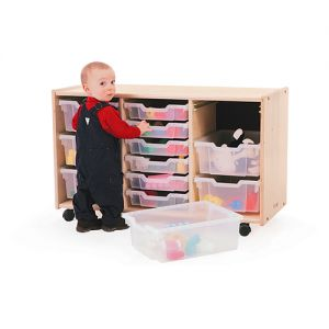 3 Section Toddler Tray Storage