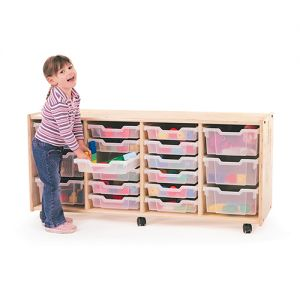 4 Section Toddler Tray Storage