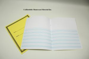 Blue Lined ½ PG Both Sides Journal 50 Books per set & 20 Pages Per Book