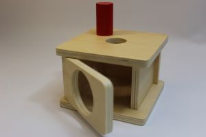 Imbucare box with small cylinder..