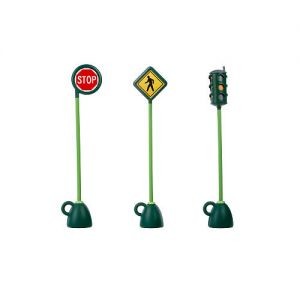 Village Traffic Light, Stop Sign & Pedestrian Crossing Sign (3 Piece Set)