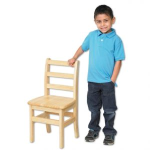 "12"" Ladderback Chairs - Hardwood - Assembled"