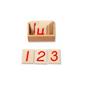 Wooden Numbers for Number Rods 1-10 with box