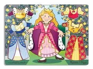 Wooden Peg Puzzle  Princess Dress Up