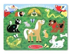 Wooden Peg Puzzle Neighbourhood Pets