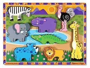 Wooden Chunky Puzzle Safari Animals
