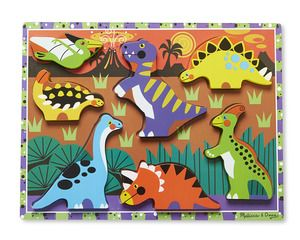 Wooden Chunky Puzzle Dinosaurs