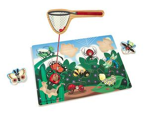 Magnetic Wooden Game Bug-Catching