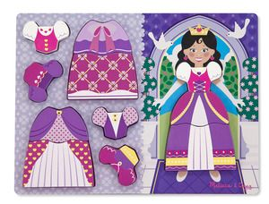 Wooden Chunky Puzzle Dress -up Princess