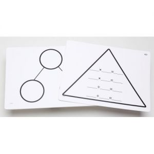 Write-On/Wipe-Off Fact Family Triangle Mats: Multiplication