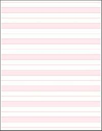 Loose Sheets 8.5 inches X 7 inches pink