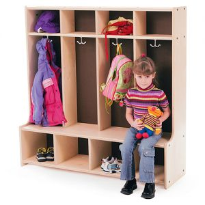 Coat Cubby  / Locker - 4 section